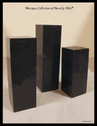 7-57-4-50-36 - 36 In. Black Stone Square Smooth Pedestal