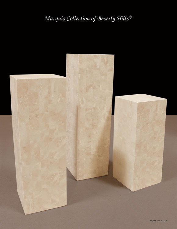 7-64-4-50-36 - 36 In. Beige Fossil Square Smooth Pedestal