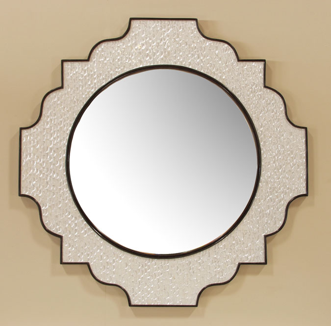 882-5630 - Showcase Mirror Frame, Trocca Shell with Black Stone Finish