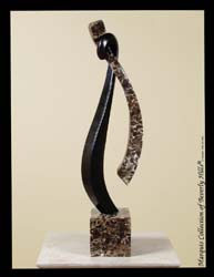 17-9525 - Harmony Sculpture, Black Stone with Snakeskin Stone