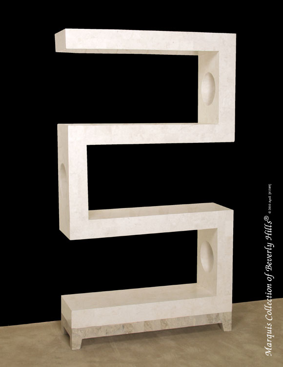25-8005 - S-Etagere, White Ivory Stone with Cantor Stone